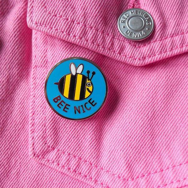Bee Nice Enamel Pin - hello DODO