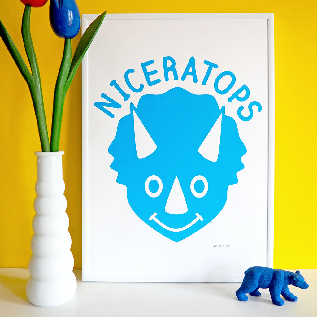 Niceratops Dinosaur Screenprint - hello DODO
