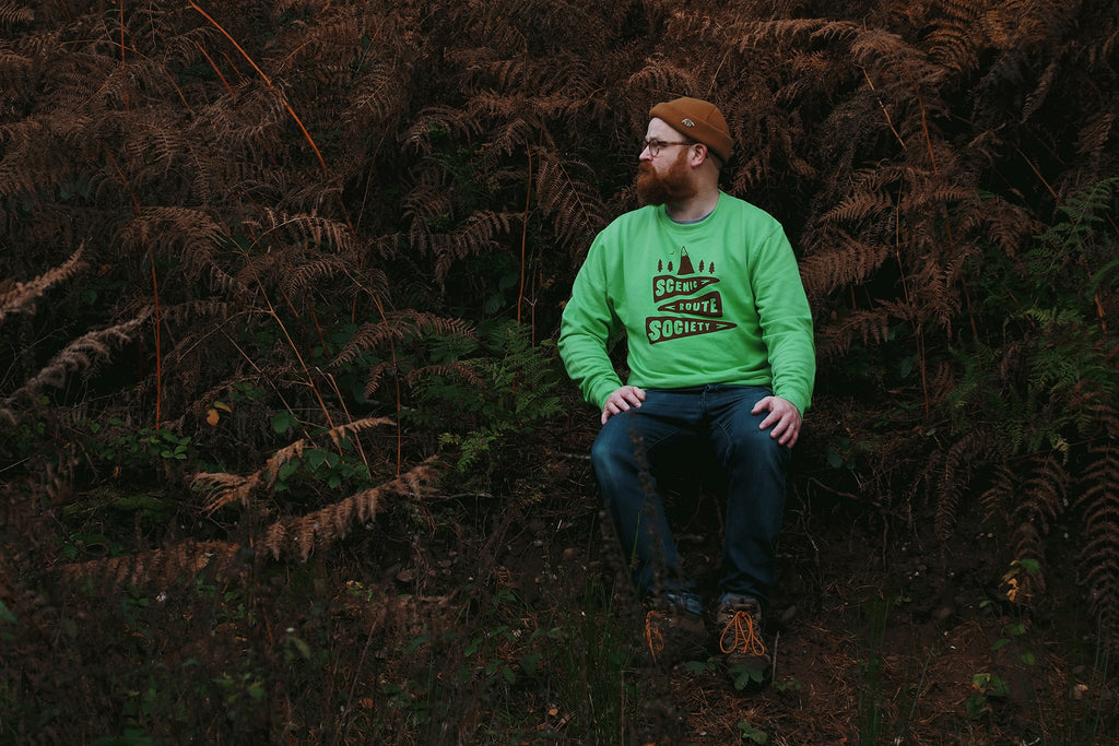 Scenic Route Society Unisex Sweatshirt in Green