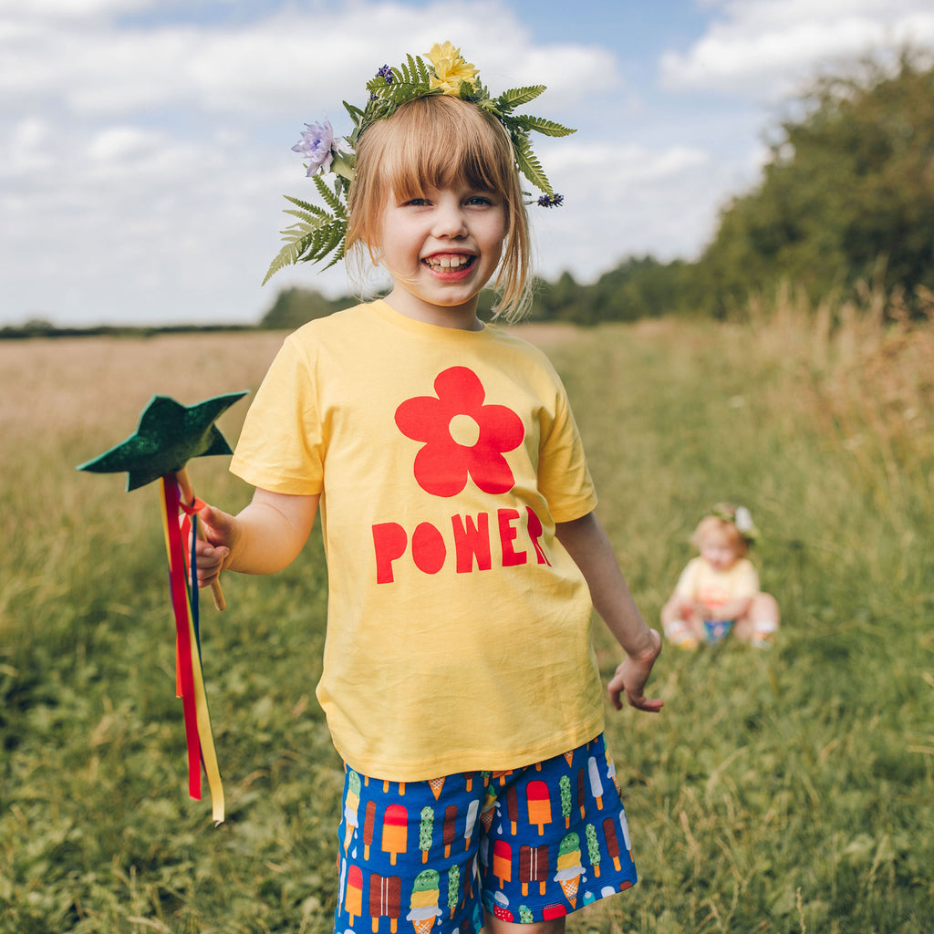 Flower Power Kids T-shirt - hello DODO