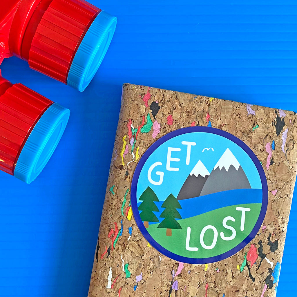 Get Lost Large Vinyl Sticker