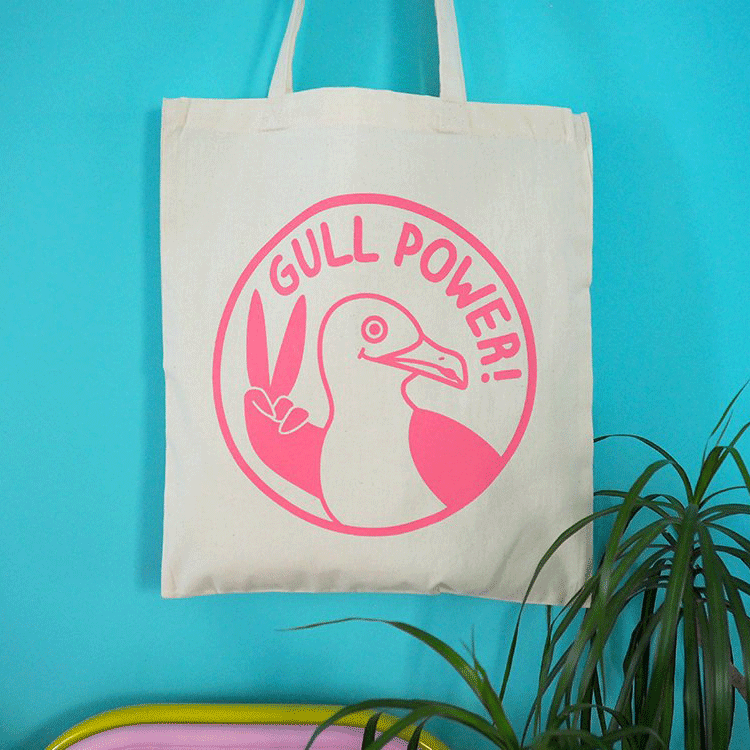 Gull Power Tote Bag - hello DODO