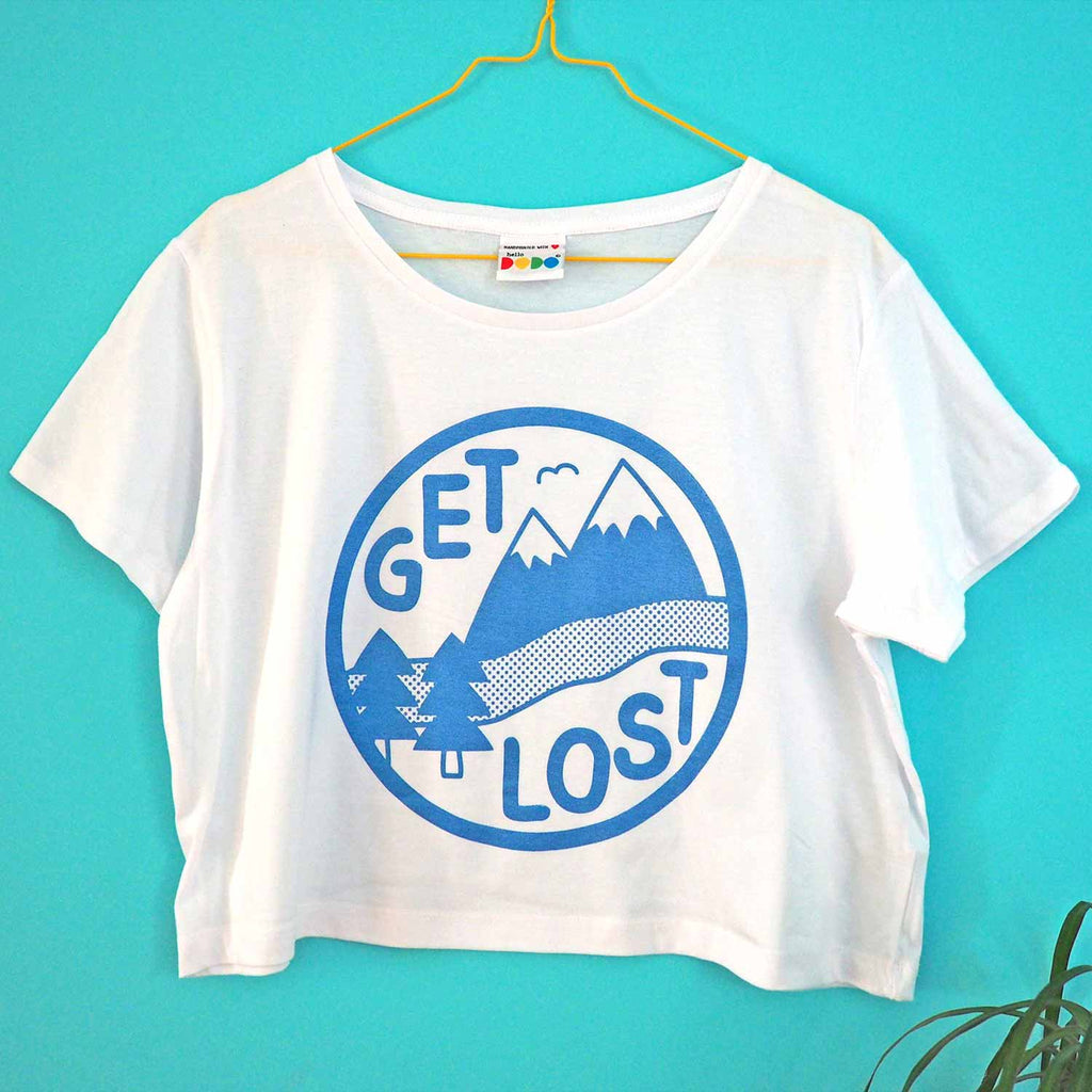 Get Lost Cropped T-shirt - hello DODO