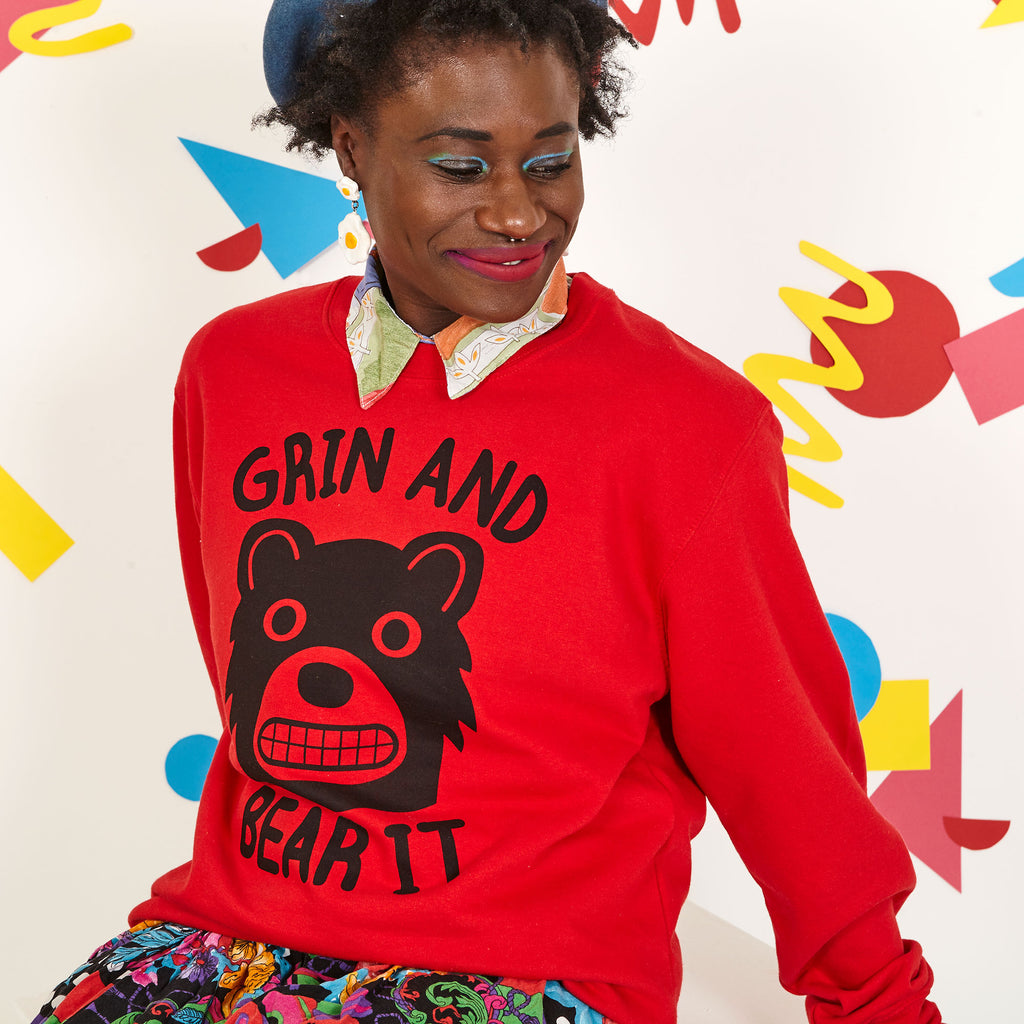 Grin And Bear It Unisex Sweatshirt - hello DODO