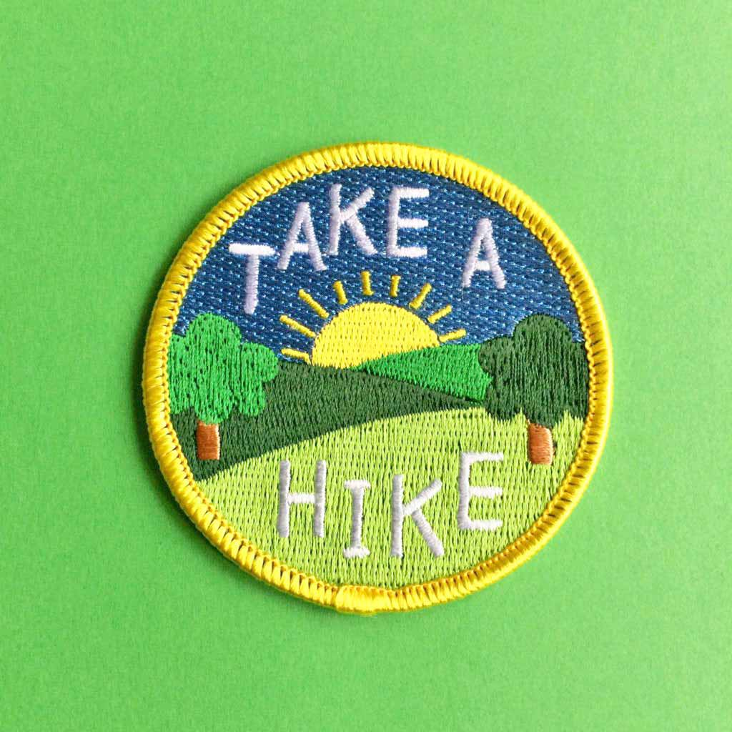 Take A Hike Iron On Patch - hello DODO
