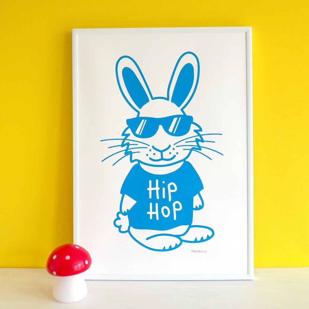 Hip Hop Screenprint - hello DODO