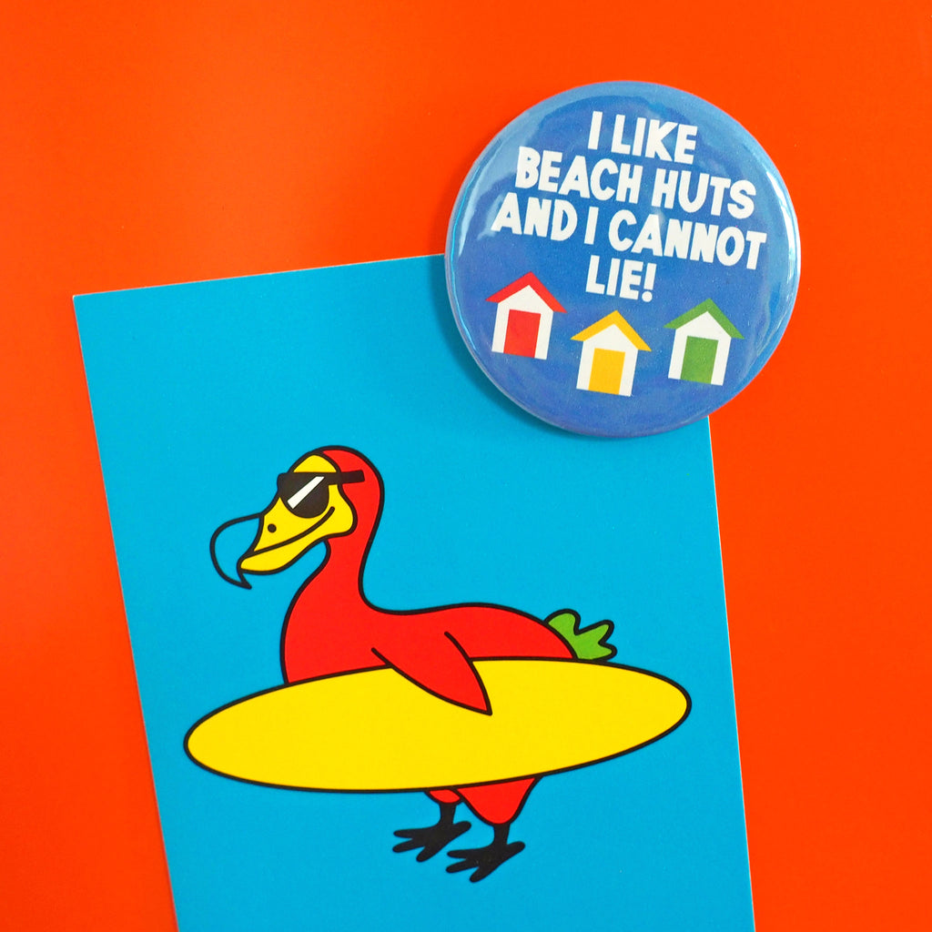 Beach Huts Fridge Magnet - hello DODO