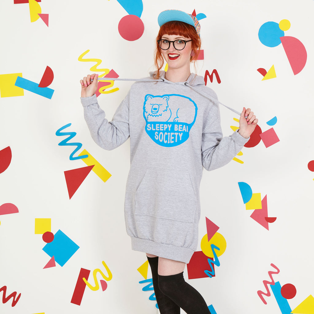 Sleepy Bear Society Hoodie Dress - hello DODO