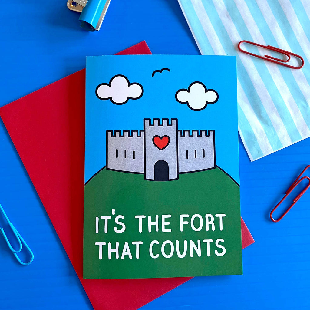 It's the Fort That Counts Birthday Card