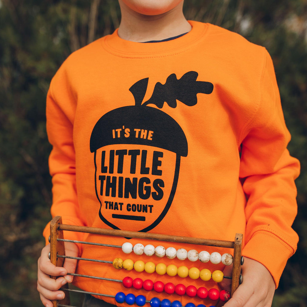 It's The Little Things That Count Kids Sweatshirt