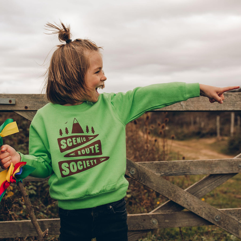 Scenic Route Society Kids Green Sweatshirt