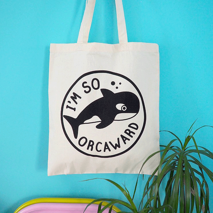 I'm So Orcaward Tote Bag - hello DODO