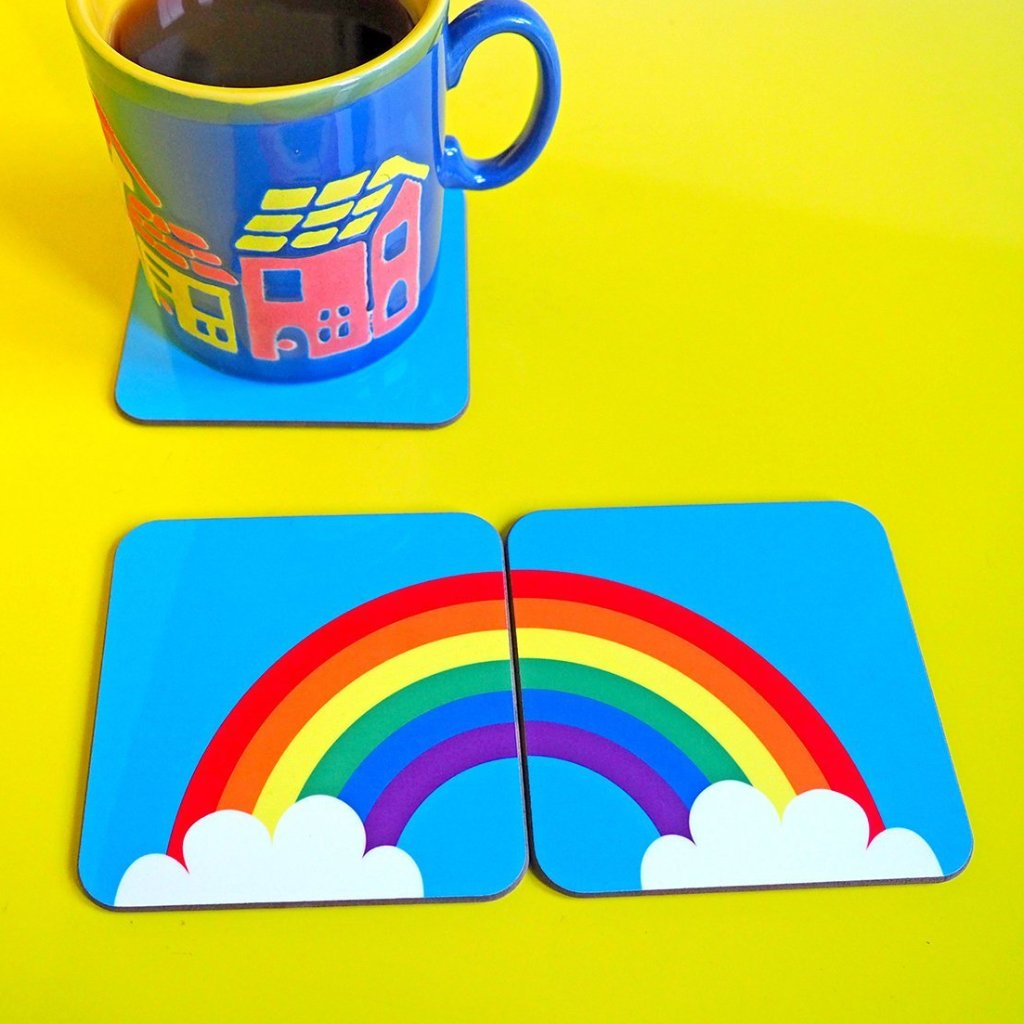 Rainbow Coaster Set - hello DODO
