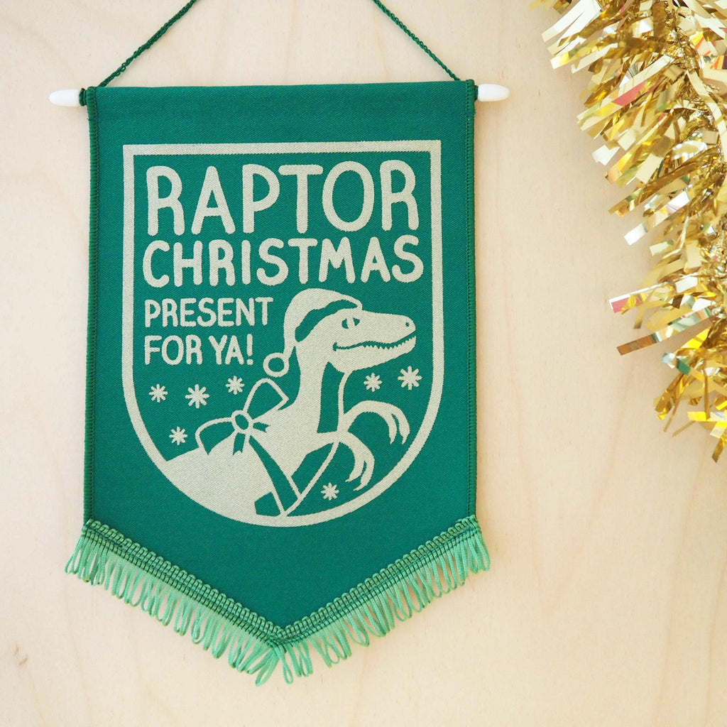 Raptor Christmas Present For Ya Pennant Decoration