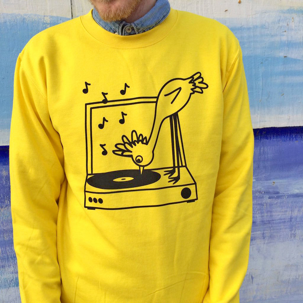 Record Player Unisex Sweatshirt - hello DODO