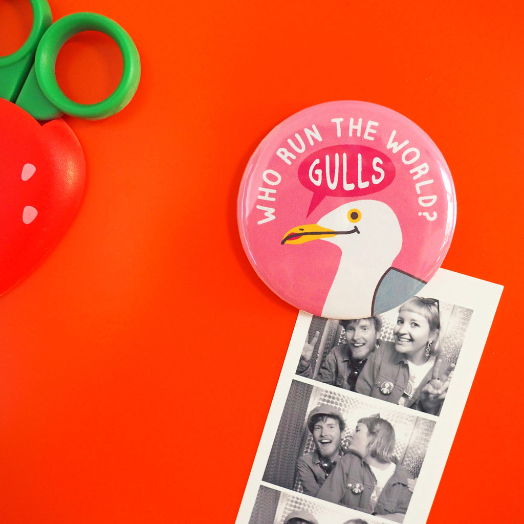 Who Run The World Gulls Fridge Magnet - hello DODO