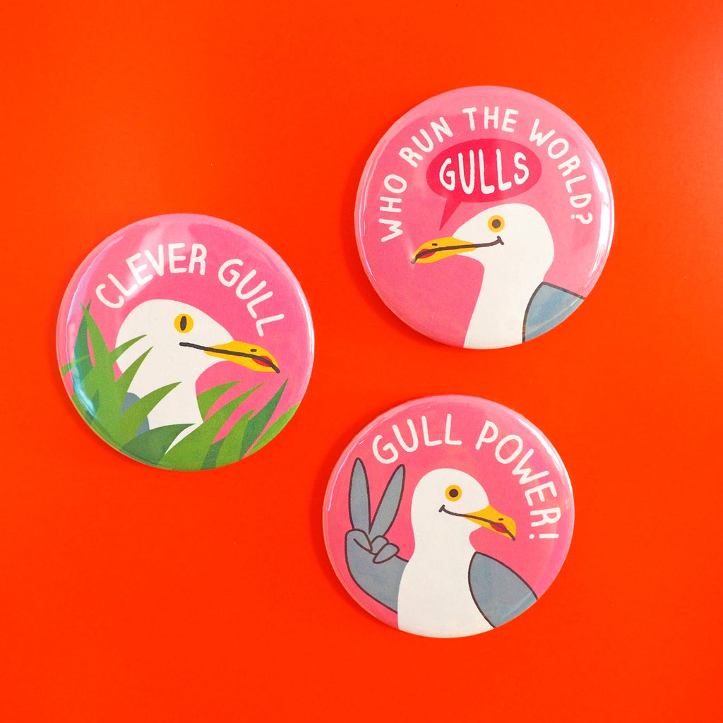 Clever Gull Fridge Magnet - hello DODO