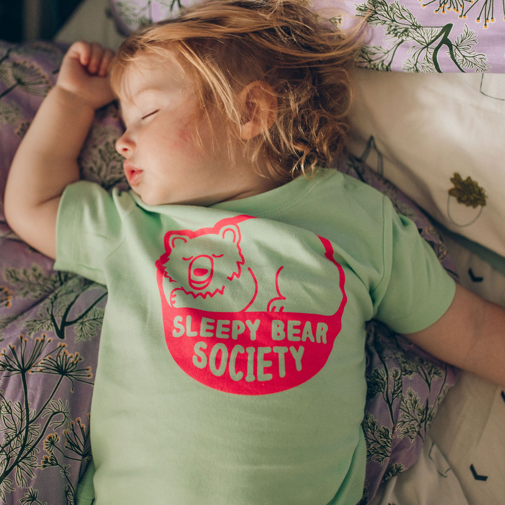 Sleepy Bear Society Baby T-shirt - hello DODO