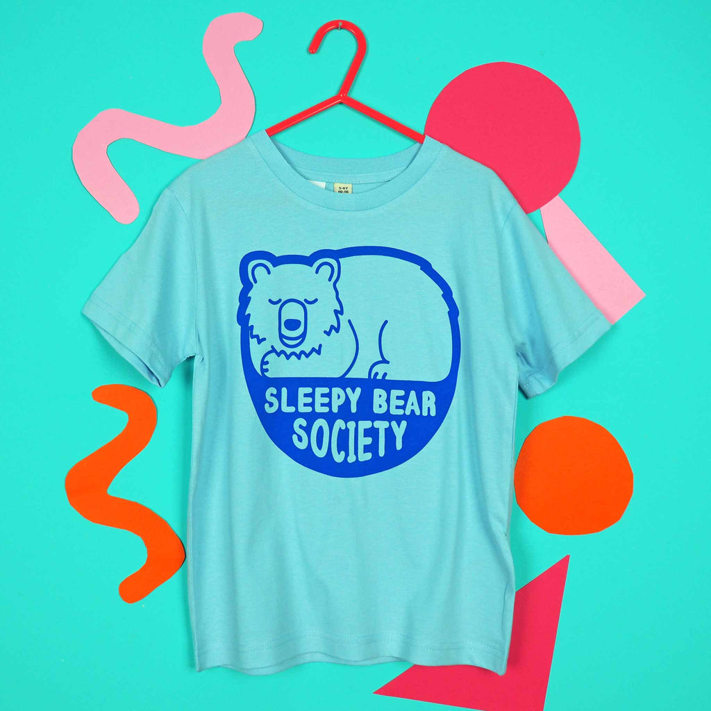 Sleepy Bear Society Kids T-shirt - hello DODO