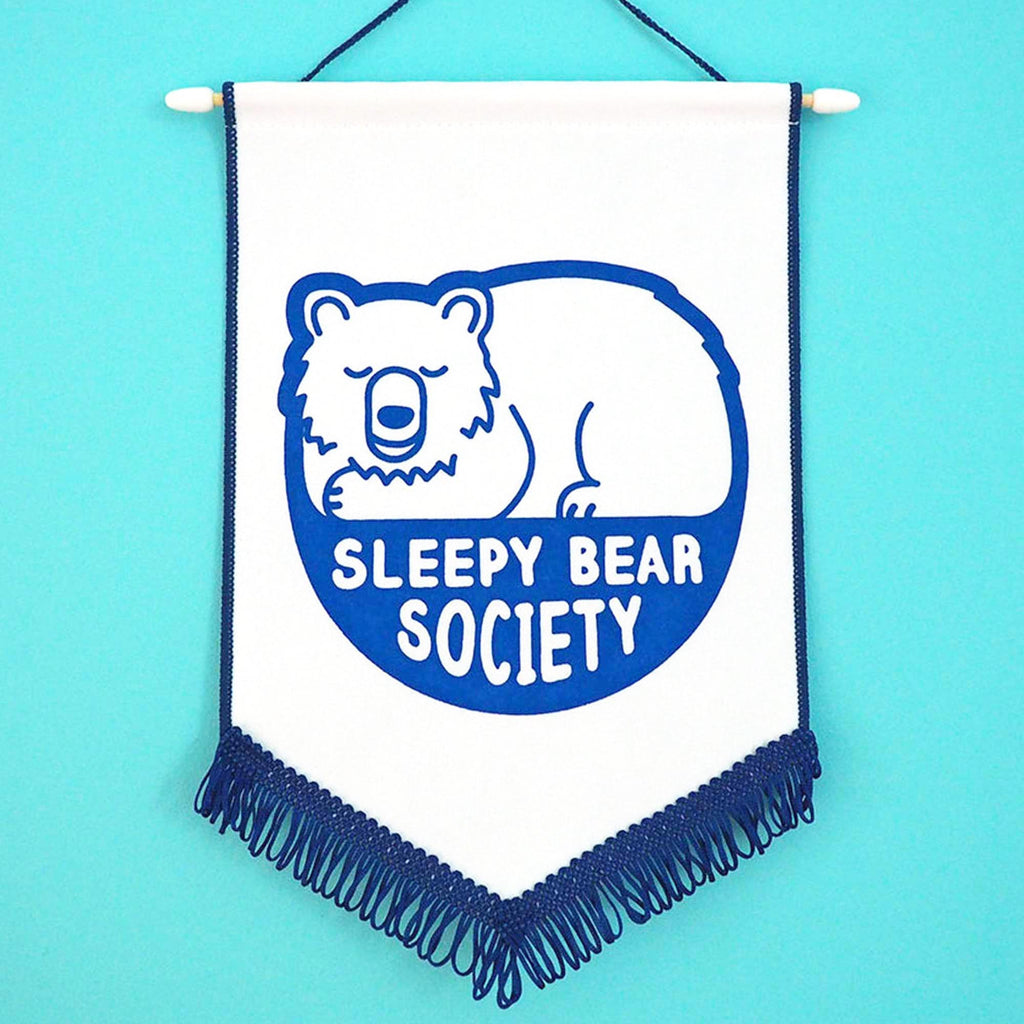Sleepy Bear Society Pennant Flag - hello DODO