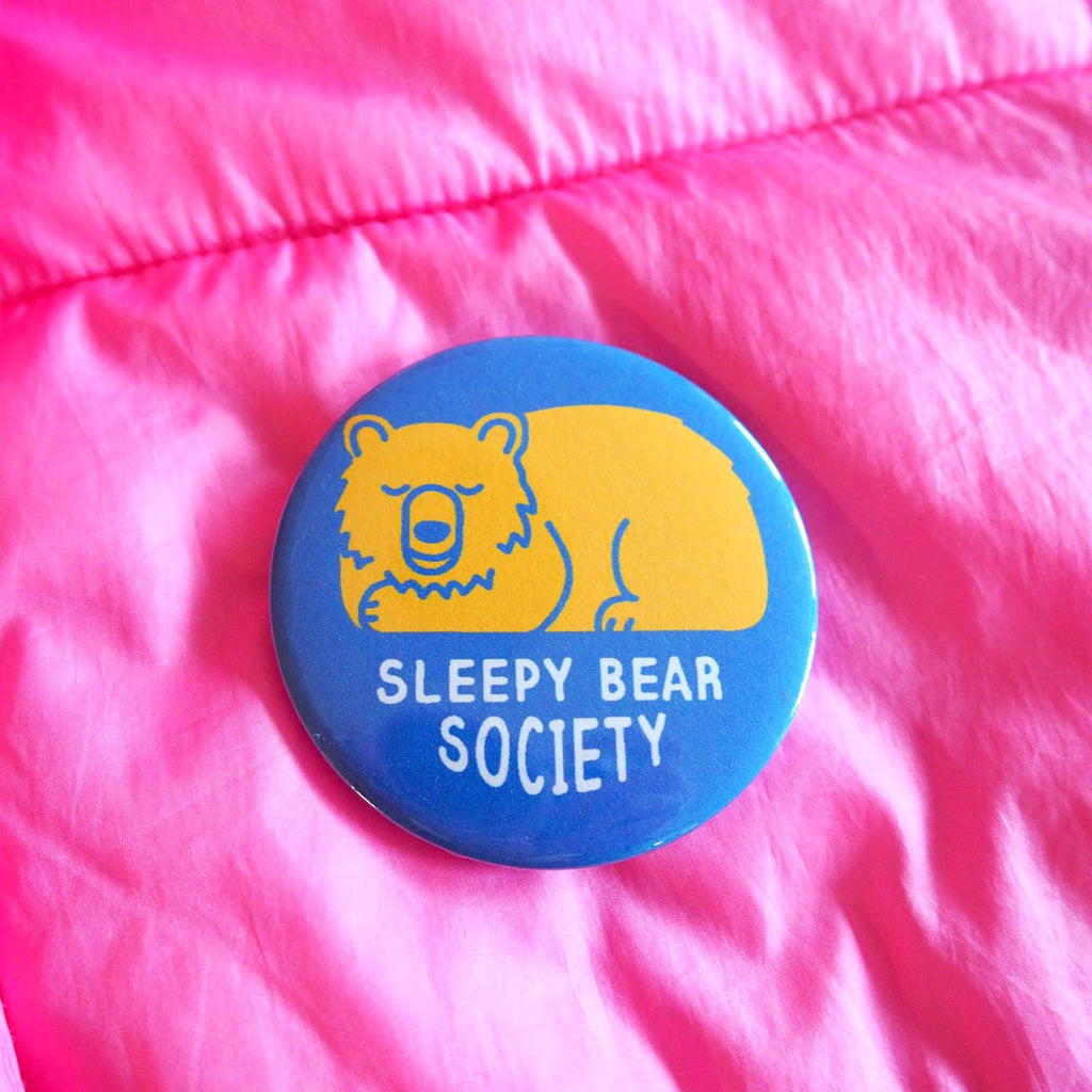 Sleepy Bear Badge - hello DODO