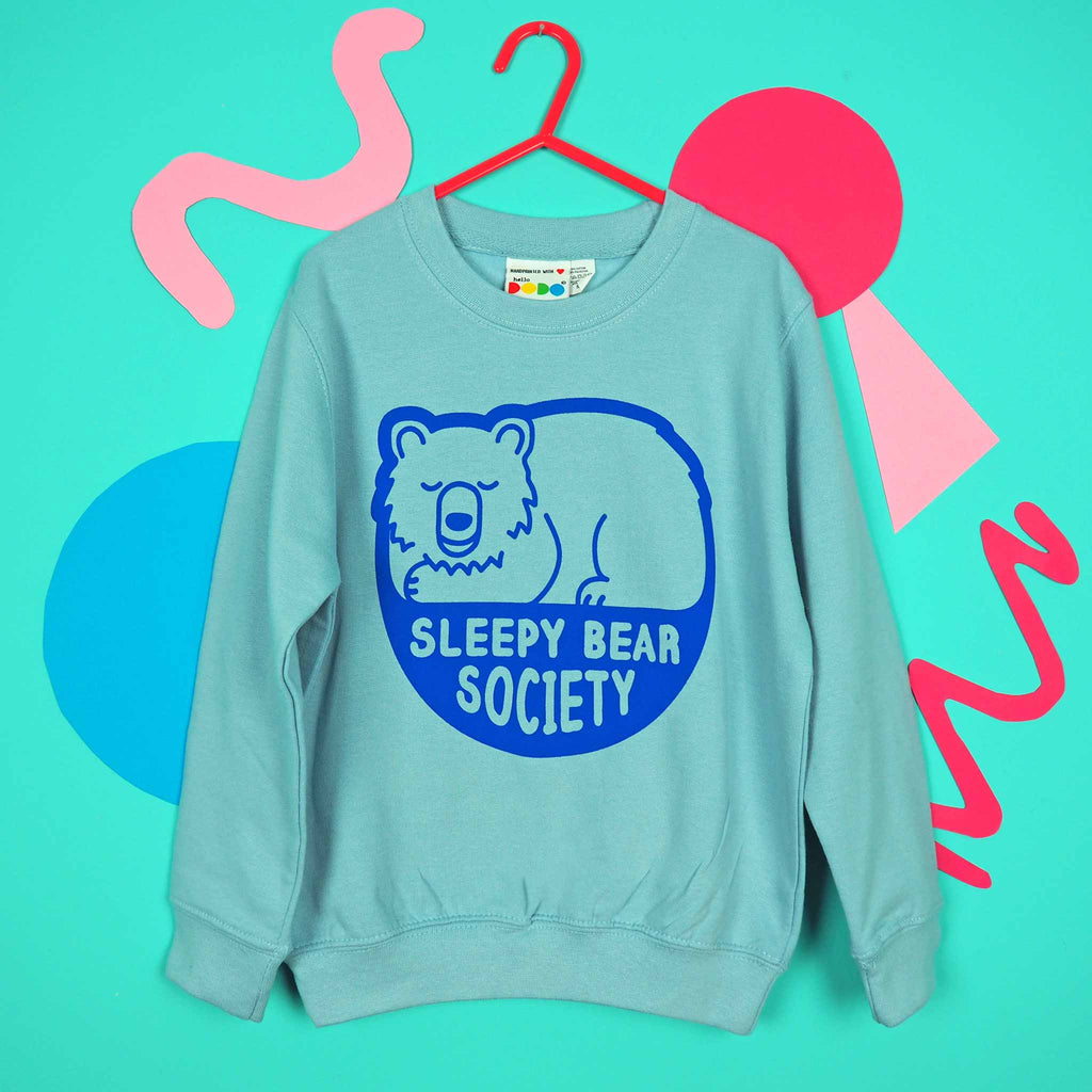 Sleepy Bear Society Kids Sweatshirt - hello DODO