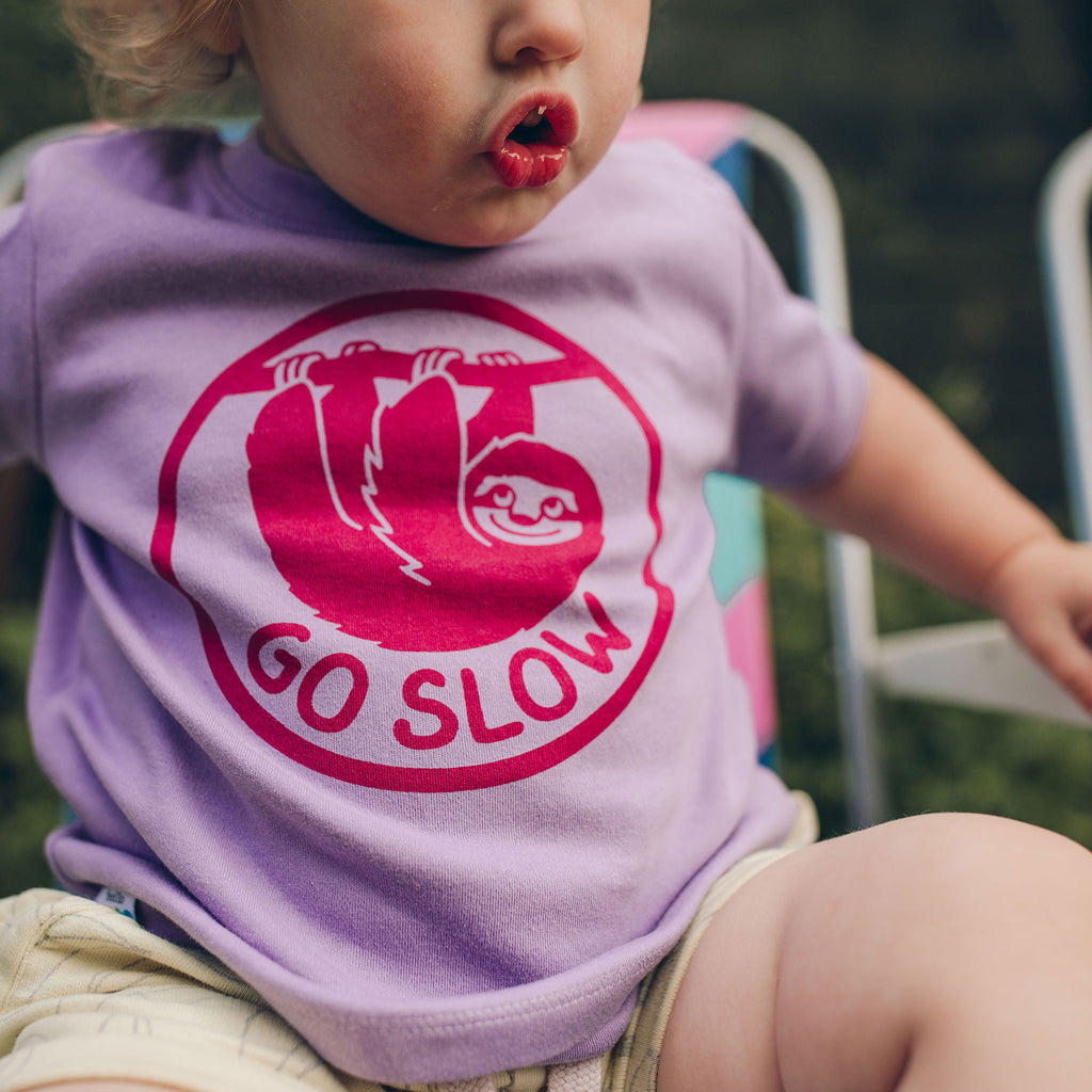 Go Slow Sloth Baby T-shirt - hello DODO