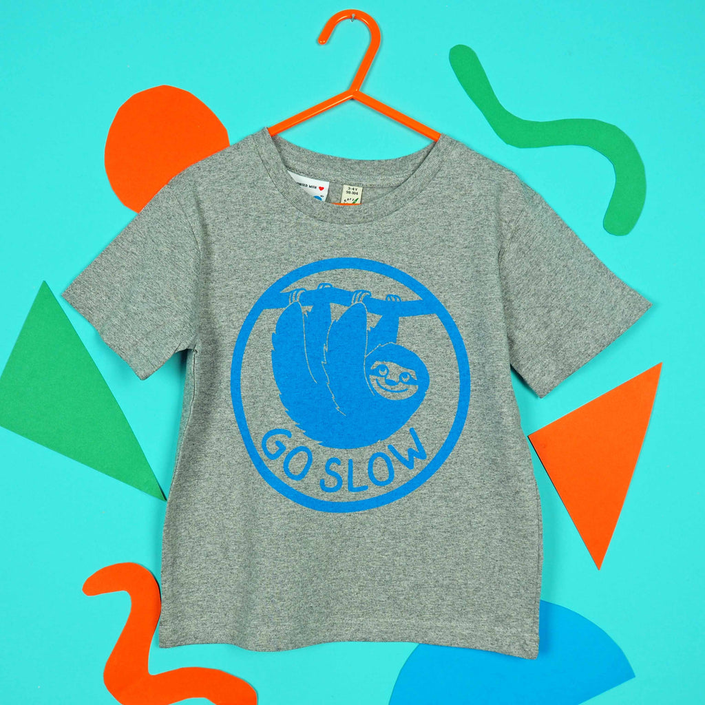 Go Slow Sloth Kids T-shirt - hello DODO