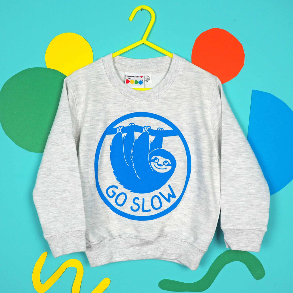 Go Slow Sloth Kids Sweatshirt - hello DODO