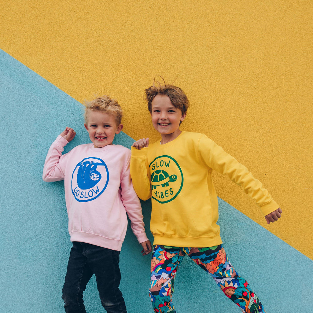 Go Slow Sloth Kids Sweatshirt
