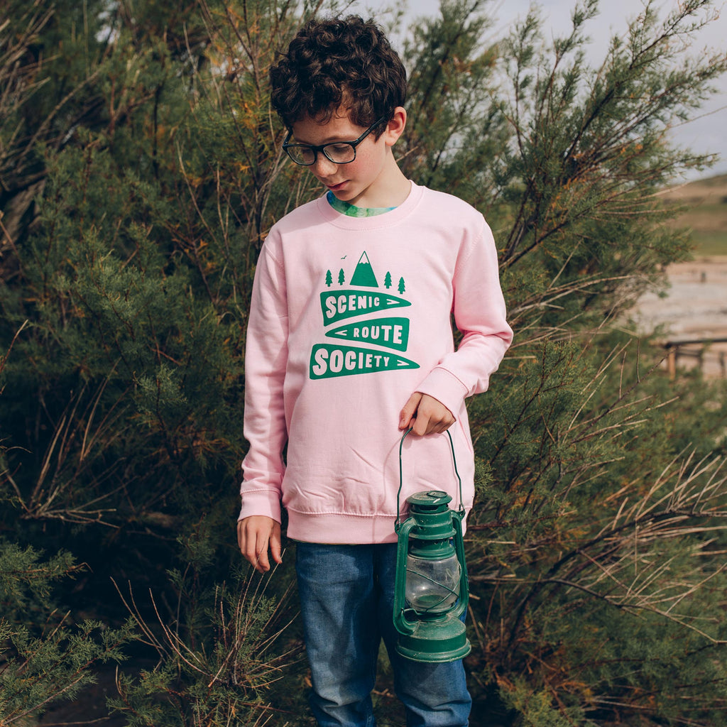 Scenic Route Society Kids Pink Sweatshirt