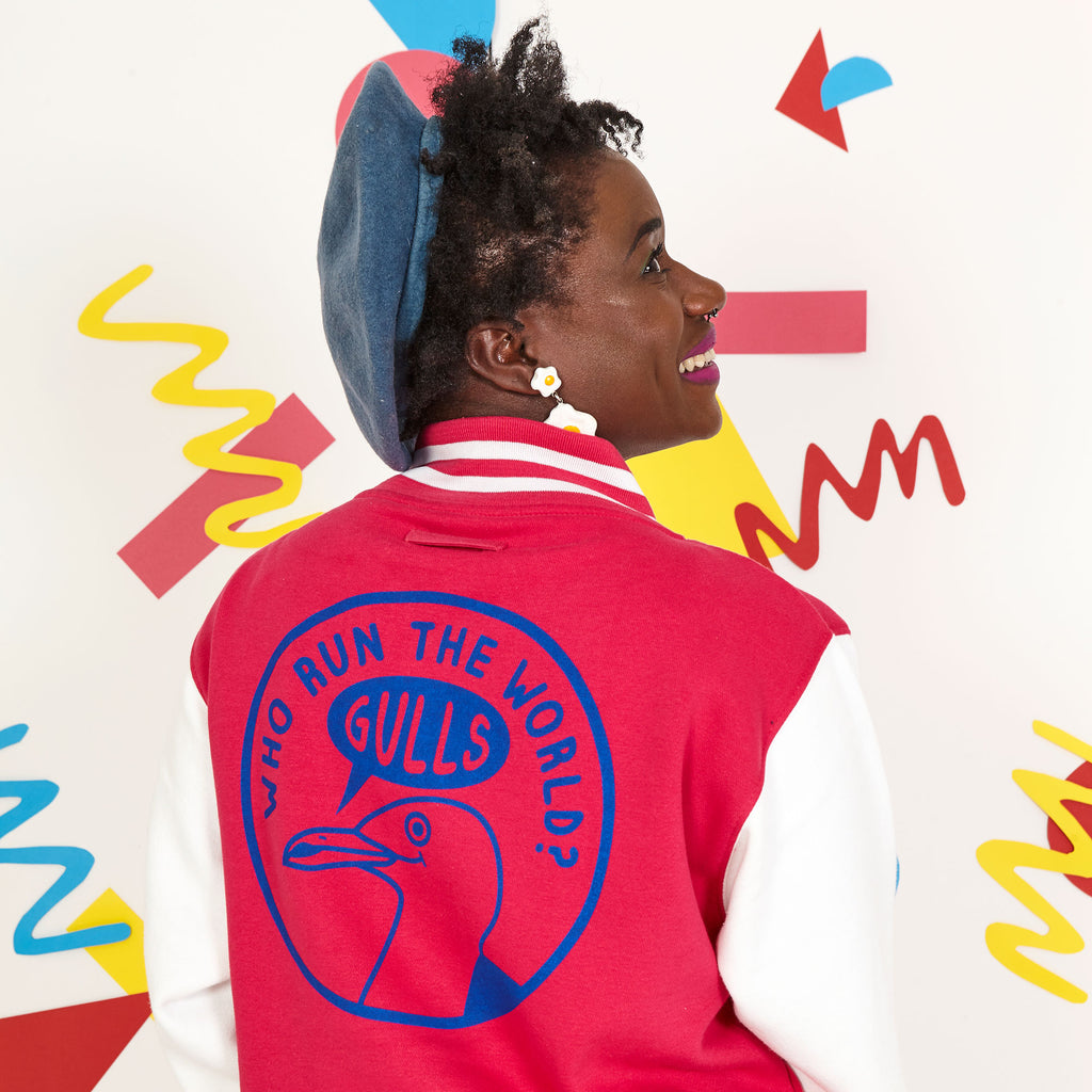 Who Run The World Gulls Unisex Varsity Jacket - hello DODO