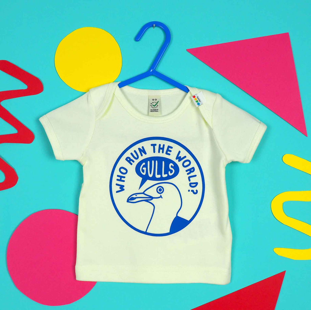 Who Run The World Gulls Baby T-shirt - hello DODO