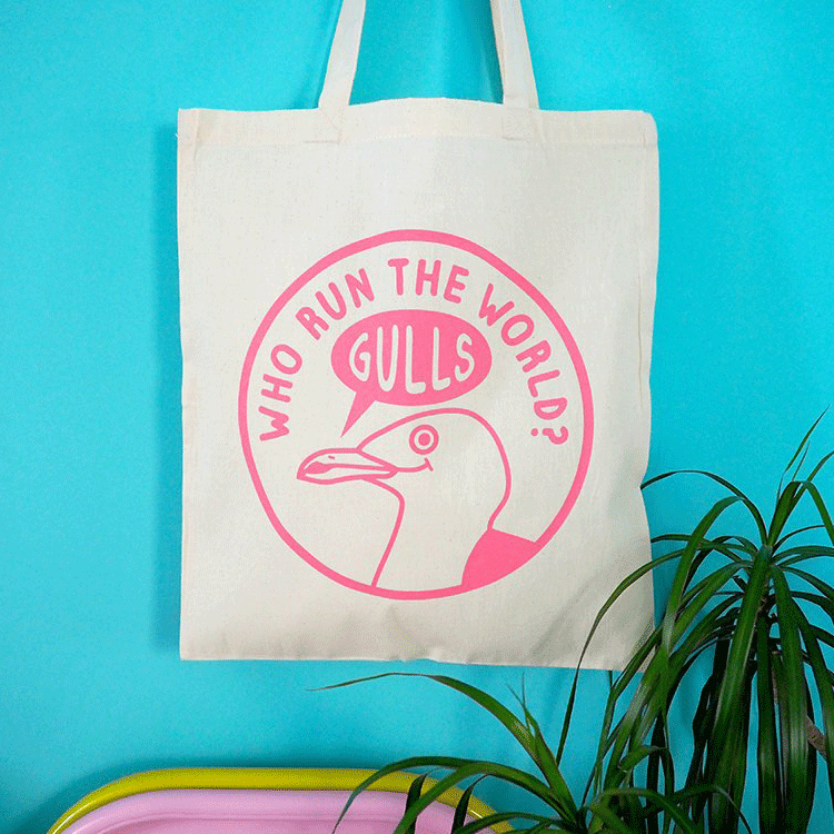 Who Run The World Gulls Tote Bag - hello DODO