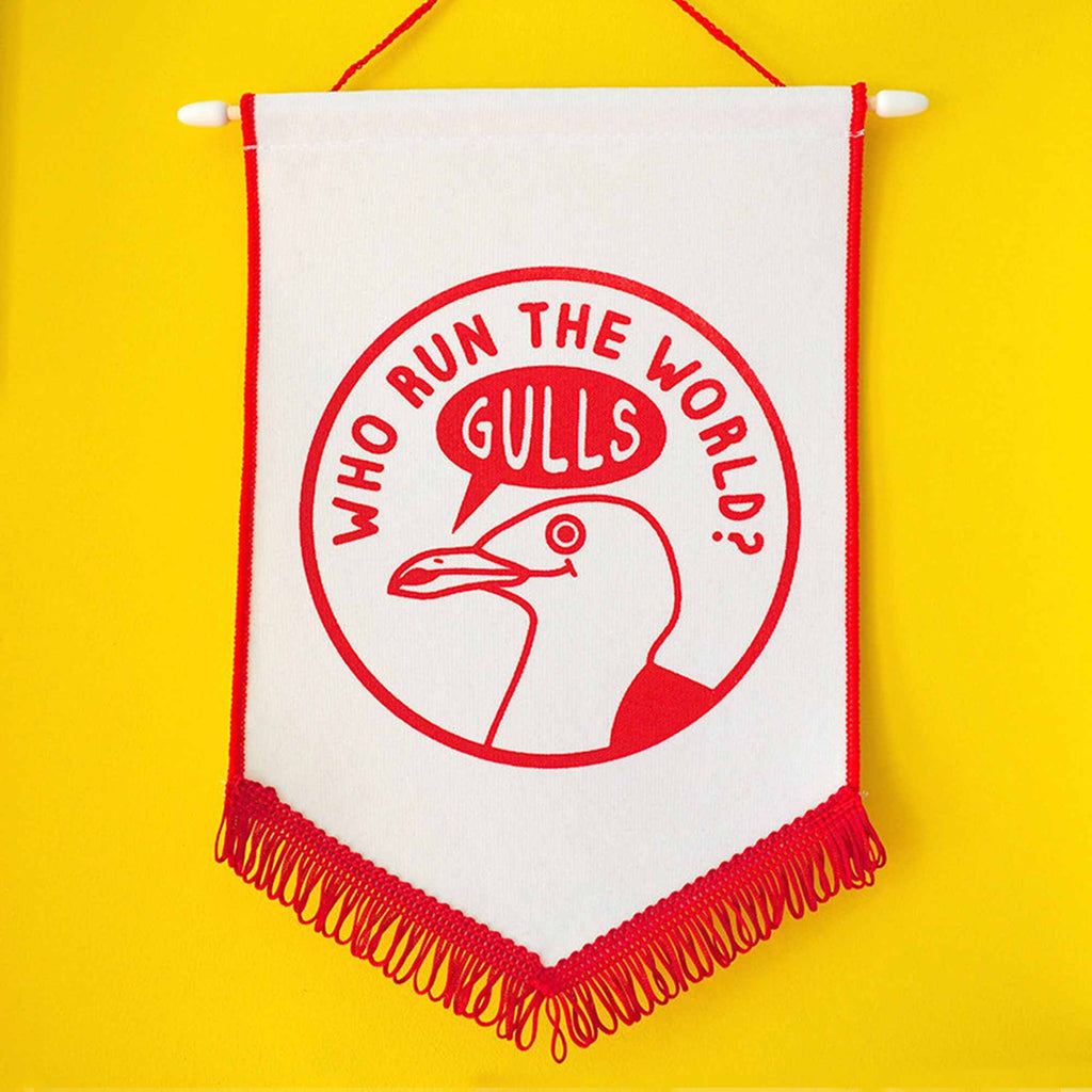Who Run The World Gulls Pennant Flag - hello DODO