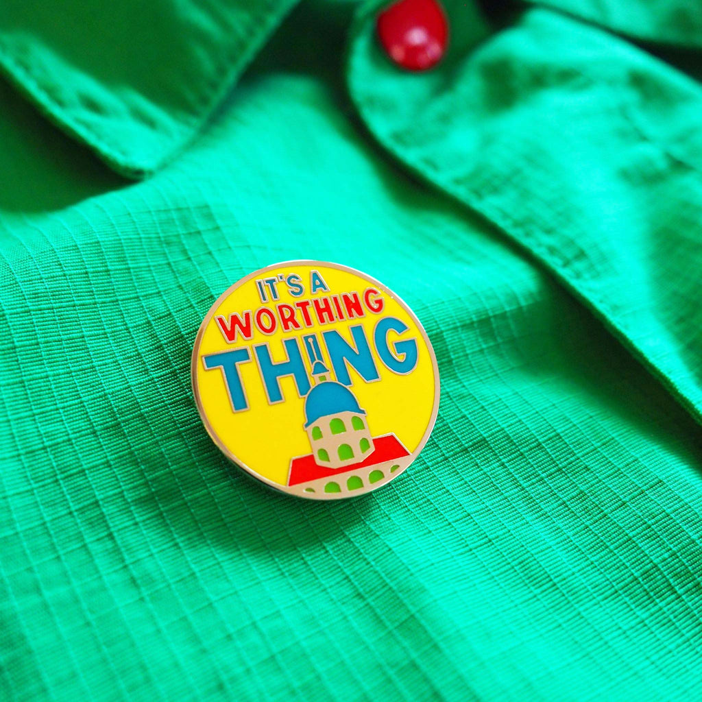 It's a Worthing Thing Enamel Pin - hello DODO