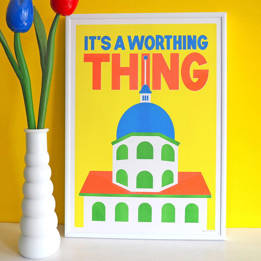 It's A Worthing Thing Risograph Print - hello DODO