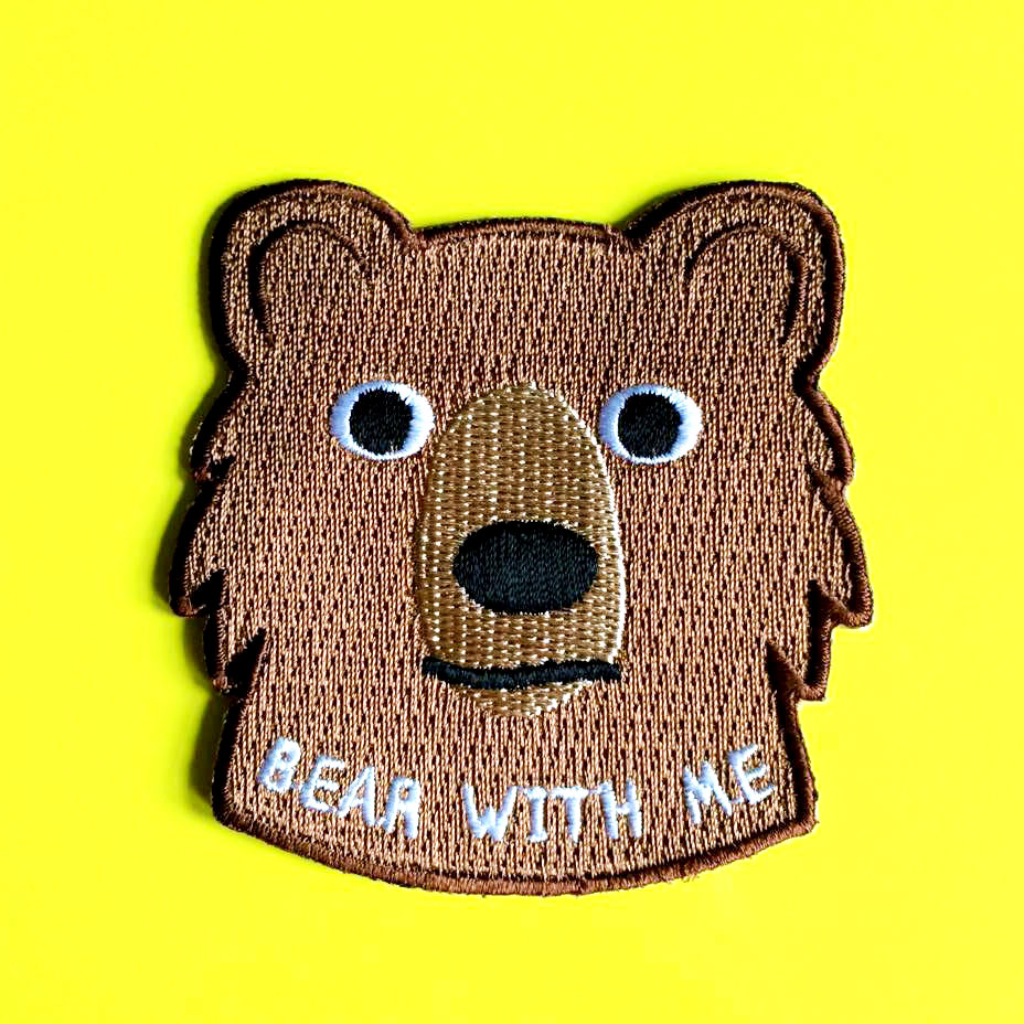 Bear With Me Iron On Patch - hello DODO