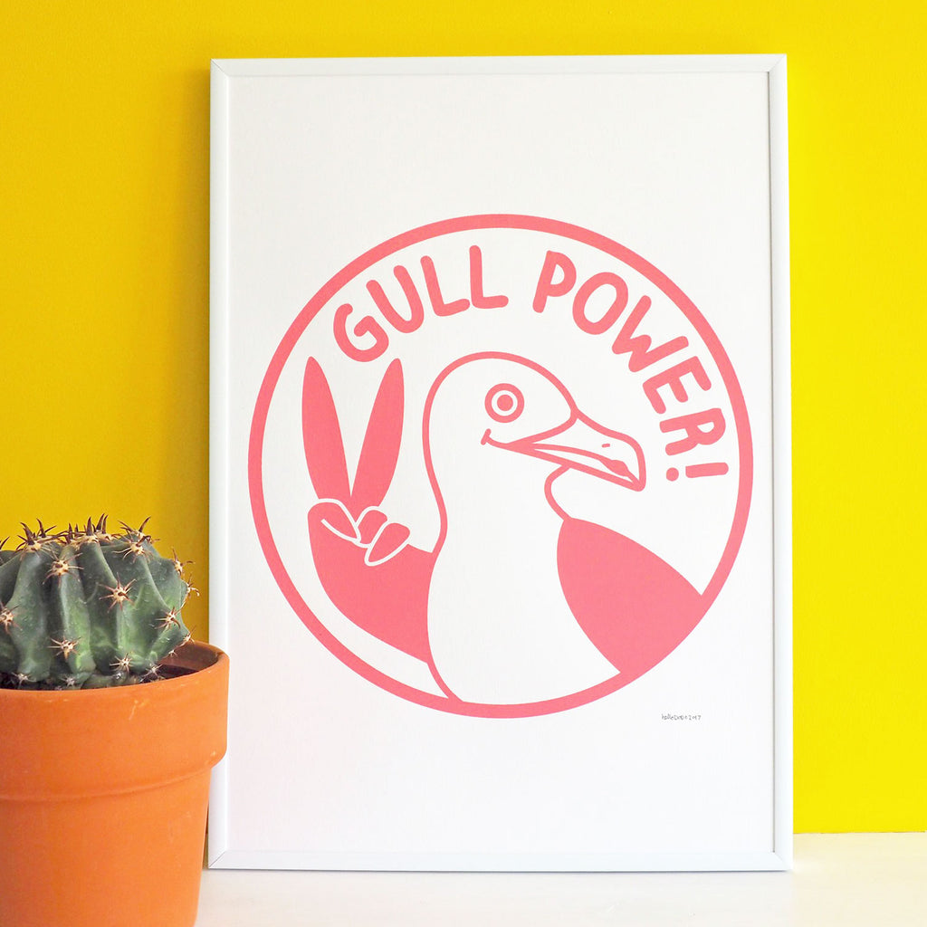 Gull Power Screenprint - hello DODO