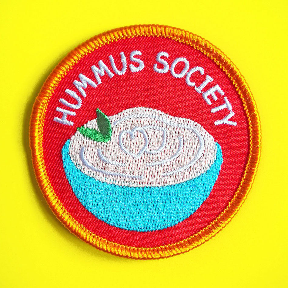 Hummus Society Iron On Patch - hello DODO
