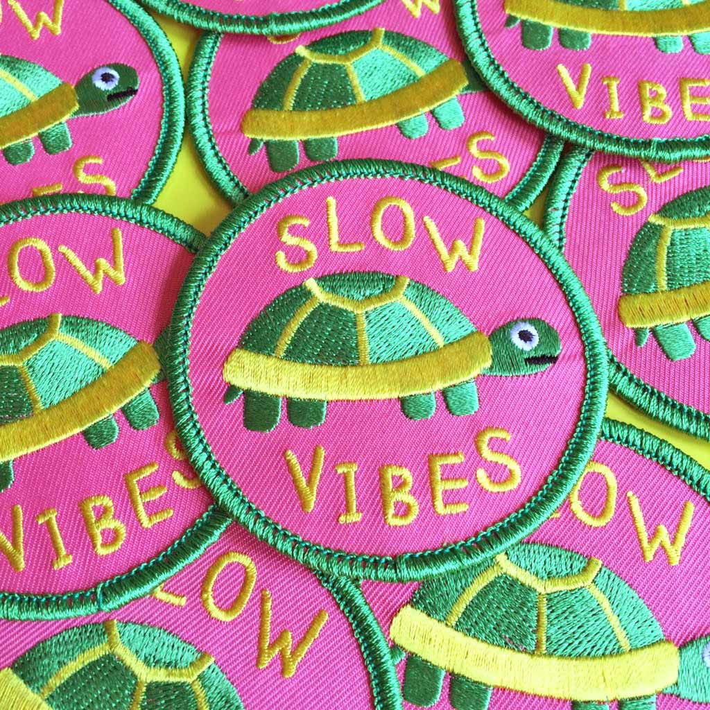 Slow Vibes Iron On Patch - hello DODO