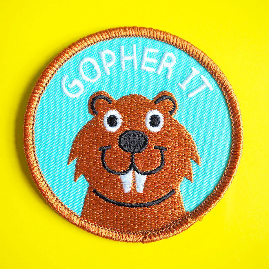 Gopher It Iron On Patch - hello DODO