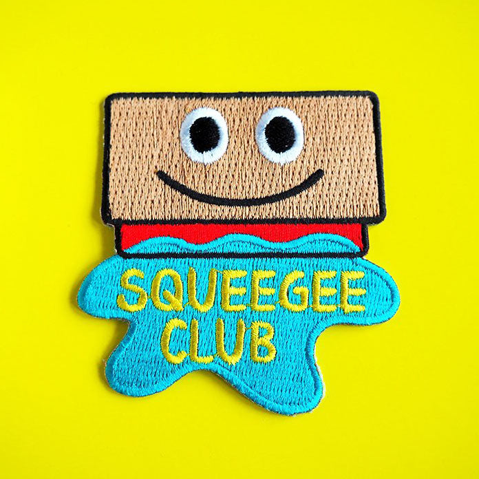 Squeegee Club Iron On Patch - hello DODO