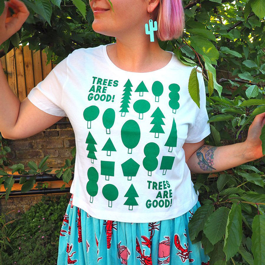 Trees Are Good Cropped T-shirt - hello DODO
