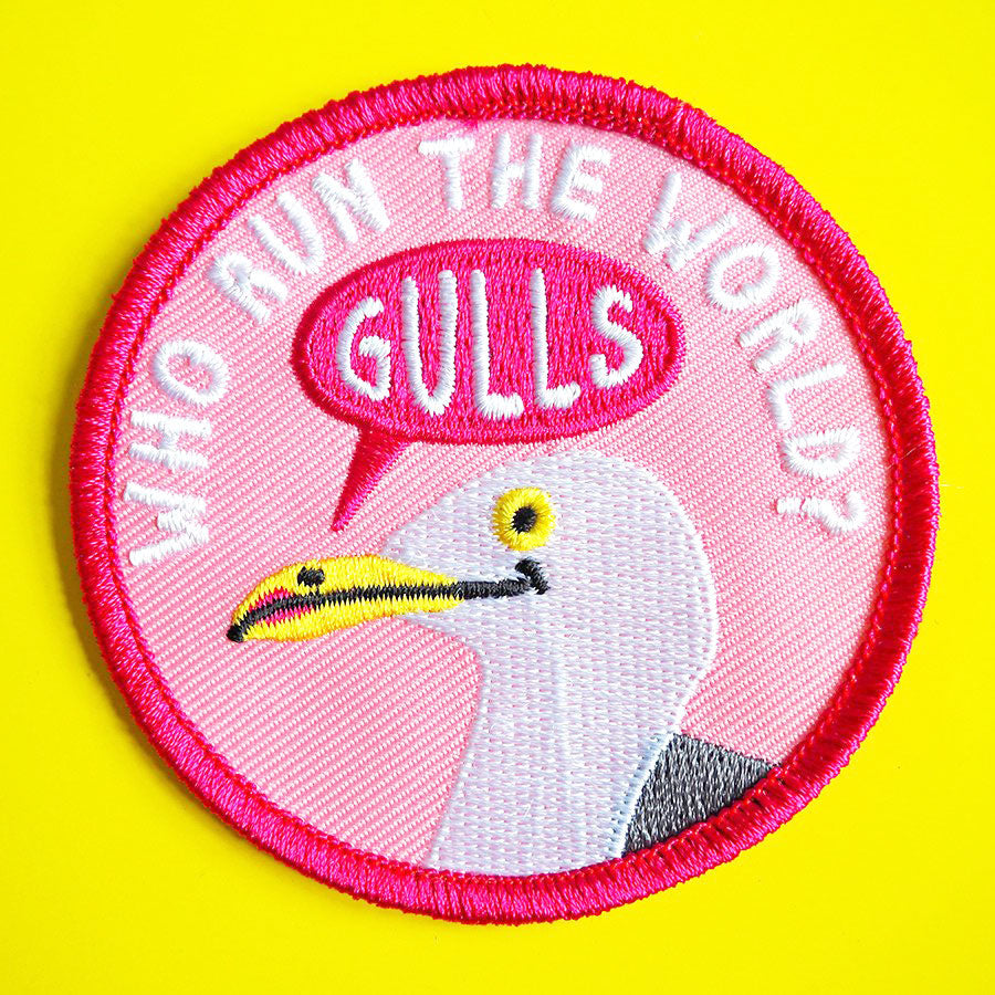 Who Run The World Gulls Iron On Patch - hello DODO