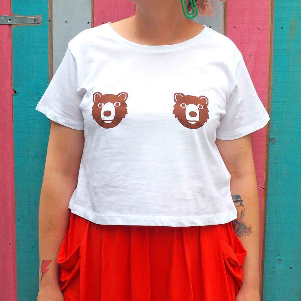 Bear Tits Cropped T-shirt - hello DODO