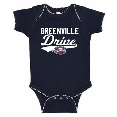 Greenville Drive Soft as a Grape Navy Onesie