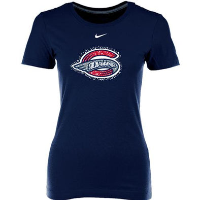 Greenville Drive Nike Navy Women's Sparkle Logo Tee