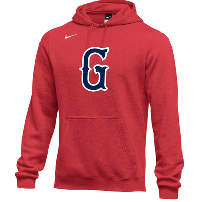 Greenville Drive Nike Youth Red Hoodie with Navy G