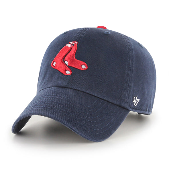 Boston Red Sox 47 Brand Navy Clean Up Hat with Dangling Red Sox Logo